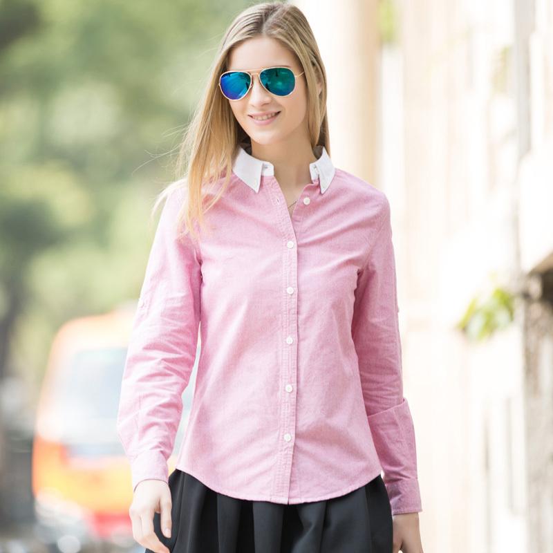 Pink Oxford Shirt Oxford Shirt Solid Free