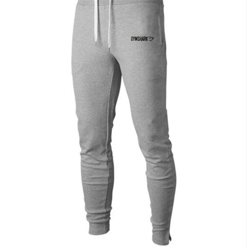 2016 New Gym Clothing Man Pants Casual Skinny Trousers Bodybuilding Gym Shark Pants Men Sports Joggers Cotton Elastic Sweatpants(China (Mainland))