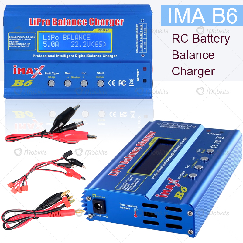 New iMAX B6 Smart Battery Digital Balance Charger Suitable For Li-ion Li-Poly Li-Fe NiCD NiMH Pb Digital RC LIPO Battery Charger(China (Mainland))