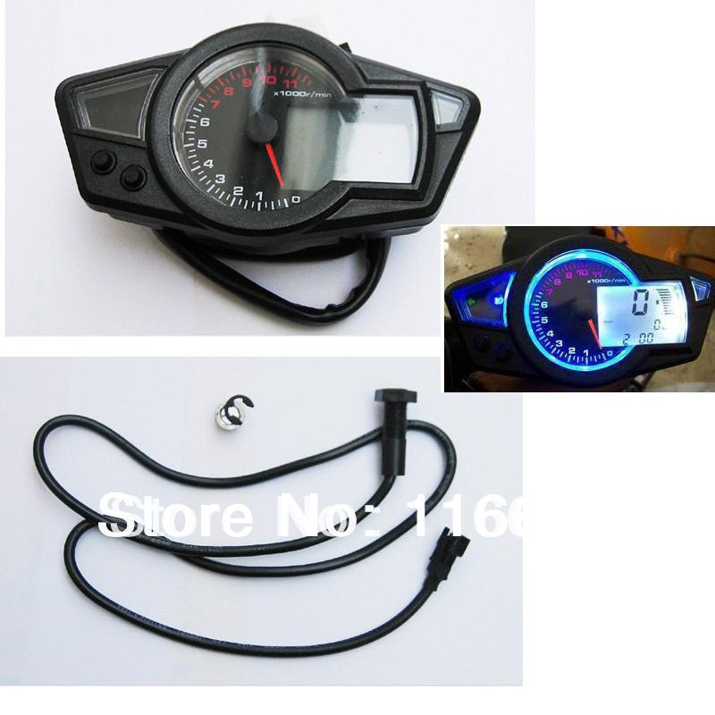 mph/kmh Universal LCD Digital Odometer Speedometer Tachometer 2/4 Cylinder Disc Brake Motorcycle RMP Motor Bike ATV w/ Backlight(China (Mainland))
