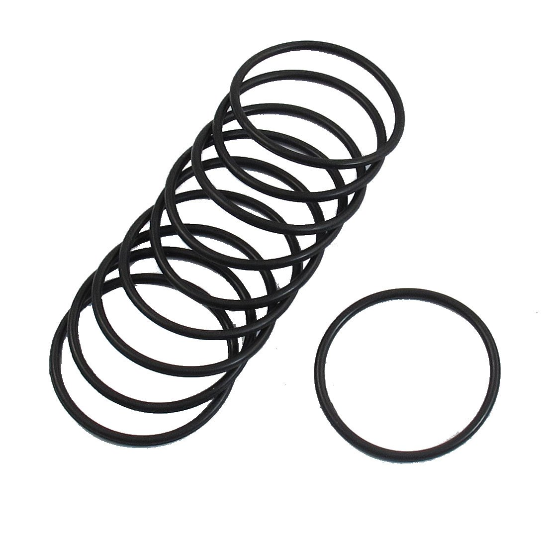 10 Pcs 35mm x 2mm Industrial Flexible Rubber O Ring Seal Washer