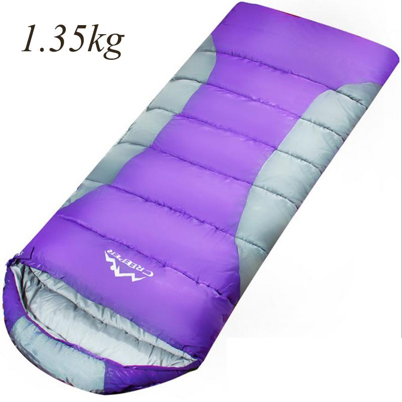 CREEPER Splicing Double Sleeping Bag Envelope Type Outdoor Travel Waterproof Climbing Sleeping Bag Suit for 1.8-2m Men Women(China (Mainland))