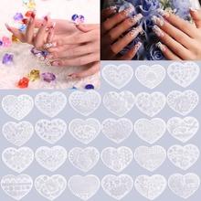hot  Heart Shape Nail Art Printing Plate Image Stamping Plates Manicure Template create beautiful nail designs Popular(China (Mainland))