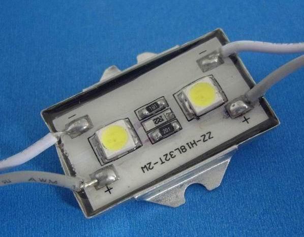 Waterproof SMD LED Module, 2pcs 5050 SMD LED, white color;(China (Mainland))
