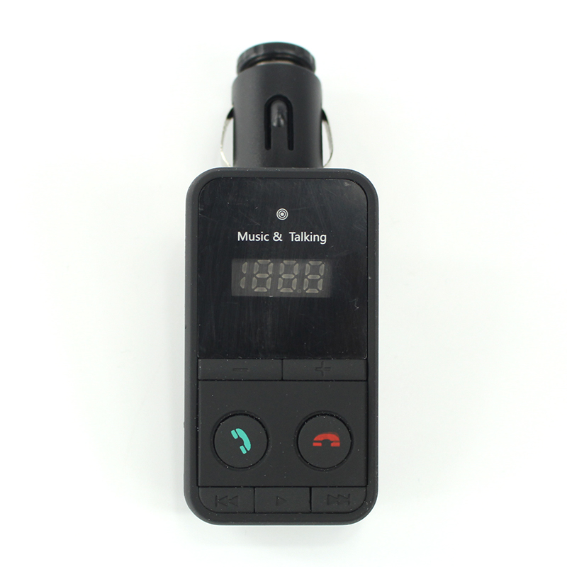 Black Hands Free Wireless Bluetooth FM Transmitter Modulator Car Kit MP3 Player SD USB LCD Remote Controll Car Music Player 8070(China (Mainland))