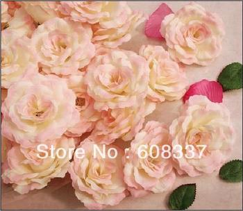 Free Shipping ,30pcs/lot 7.5CM Rose flower head ,silk flower   ,fake flower