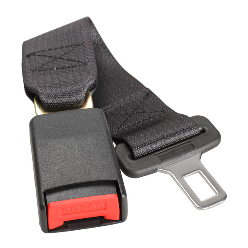 DU Car Vehicle Seat Belt Extension Extender Strap Safety Buckle Black New Free Shipping