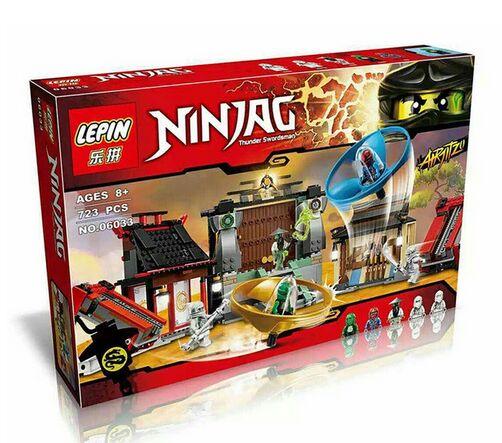 2016 New LEPIN 723Pcs Ninja Airjitzu Battle Grounds Model Building Kits Legoelieds Minifigure Blocks Brick Toy(China (Mainland))