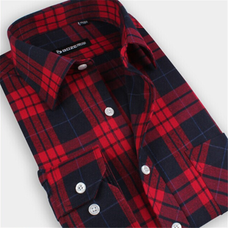 Mens Red Plaid Flannel Shirt Images