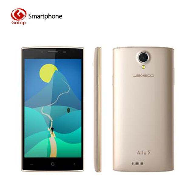 Оригинальный Leagoo Alfa 5 Android 5.1 SC7731 Четырехъядерный Смартфон 1 ГБ ОЗУ 8 ГБ ПЗУ 1280 x 720 5.0 дюймов Мобильный телефон 8.0МП Сотовый телефон