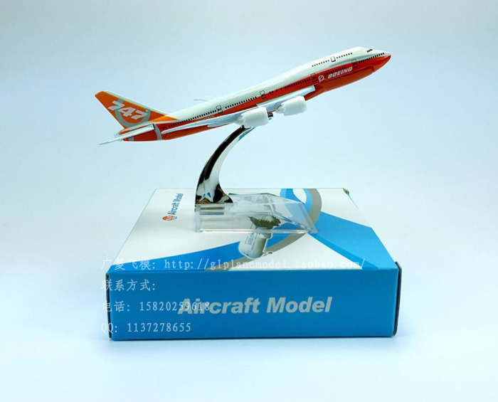 New Boeing 747 painting 16cm model airplane kits child Birthday gift plane models toys Free Shipwping Christmas gift(China (Mainland))