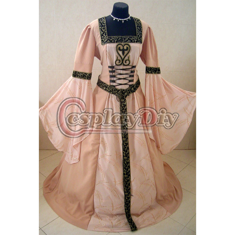 Medieval Victorian Renaissance Gothic Dress Costume Hooded LOTR TUDOR Halloween Costume Adult Women Plus Size(China (Mainland))