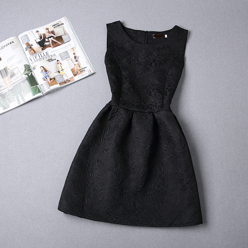 2015 Summer Style Dresses For Girl Solid Color Sleeveless Formal Girl Dresses Teenagers Party Dress Cheap-(No accessories)(China (Mainland))
