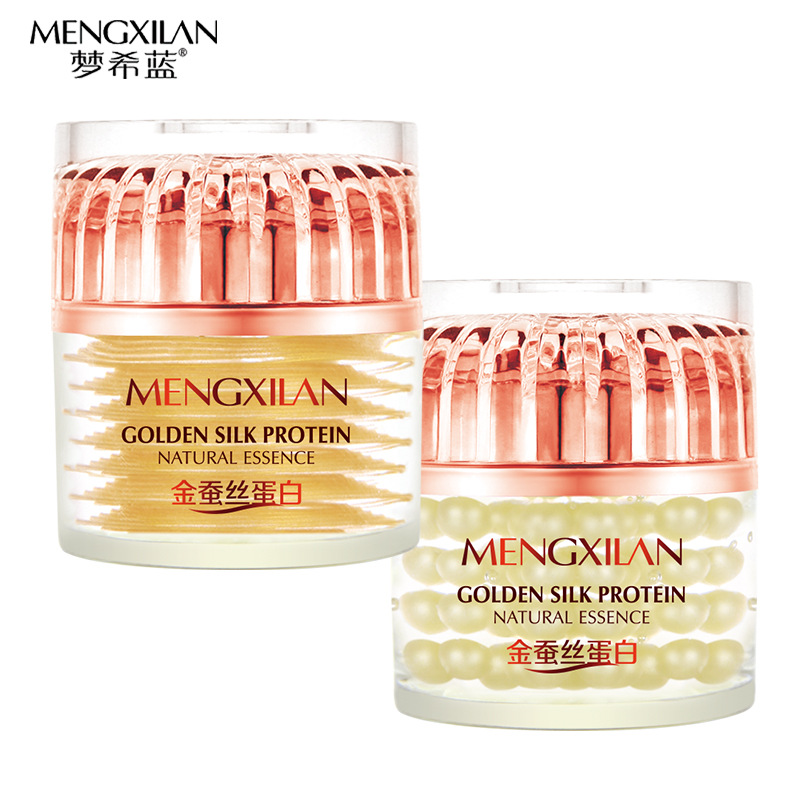 MENXILAN Silk Protein Essence Day Creams+night Face Creams Skin Whitening Acne Treatment Clareador Anti Wrinkle Moisturizing(China (Mainland))