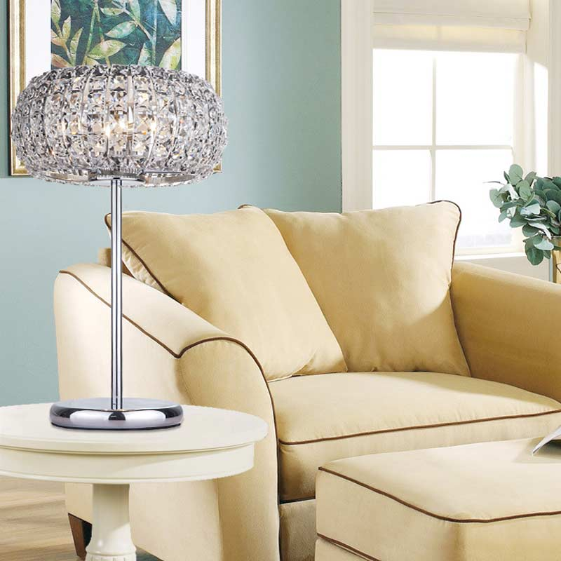 Modern crystal table lamps for living room bedroom iron - Modern lamp shades for living room ...