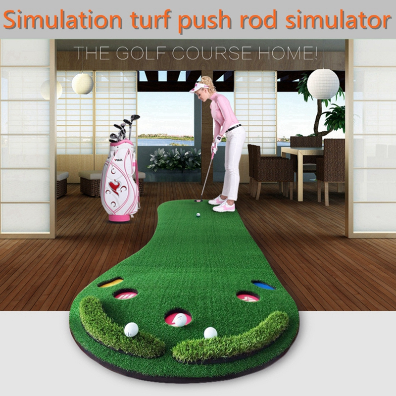 brand PGM, golf putting mat office, Golf Putter Trainer, Practice Putting Training Mat, SIZE 0.9*3M, easy carried and folding(China (Mainland))