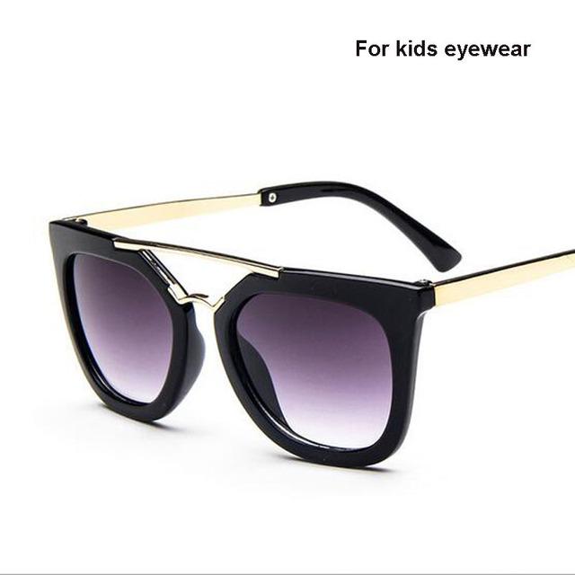 Модные Новые Модные Детские Мальчики Девочки Детские Солнцезащитные Очки Металлический Каркас для Детей Очки cat eye 2016 люнет de soleil enfant