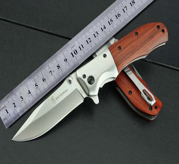 Browning DA51 Folding Knife With Rosewood Handle 55HRC 3Cr13Mov Blade Camping Hunting Tactical Outdoor Survival Knives Tools(China (Mainland))