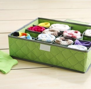 Z032 5pcs / lot 16 case receive a case of soft cover dust damp clothes storage box for underwear(China (Mainland))