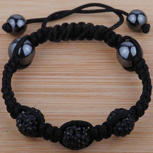 Black 10mm 3x Disco Ball Bead Shamballa Bracelet.Free Shipping ER4RFV Magnetic Handmade Crystal Shamballa Bracelets Jewelry(China (Mainland))