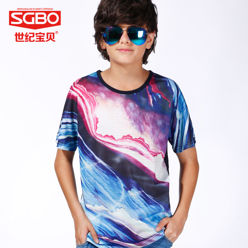 Buy 155 170cm summer fashion style cool boys t shirts kids breathable net - Cool boys photo ...