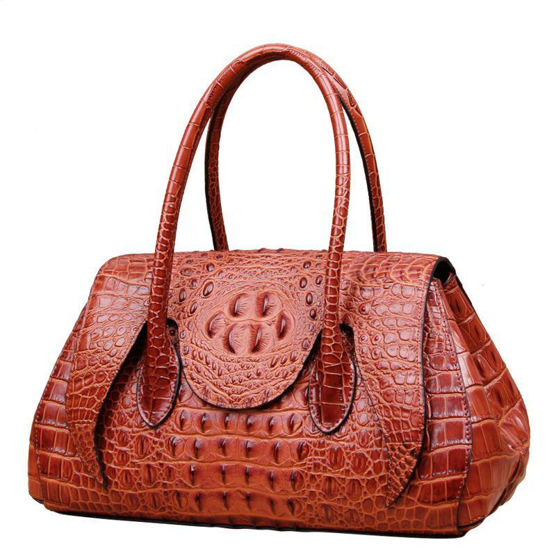 Luxury Crocodile 100% Genuine Leather Women Bag\Handbag Top Cowhide Shoulder bag\Messenger Bag Fashion Brand Tote Bag~16B28(China (Mainland))