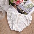 2016 Princess sweet pearl silk milk silk underwear girl becomes immortal low waist briefs