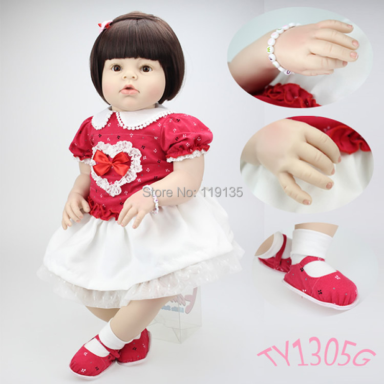 Wholesale price 70cm big handmade hot sale lifelike reborn baby fashion doll sexy girl gift real touch reborn doll(China (Mainland))