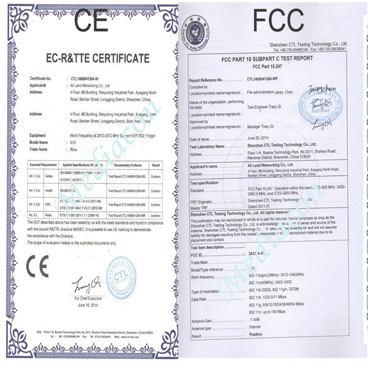 CE,FCC Certificates
