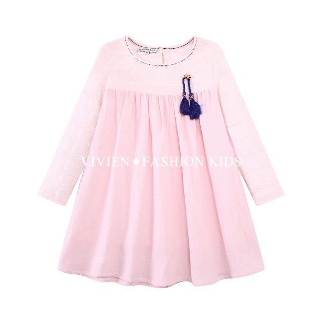 Скидки на 2016 Новое Прибытие весной и осенью девочка платье кошка печати серый девочка платье детей одежда детей одеть 1-8years