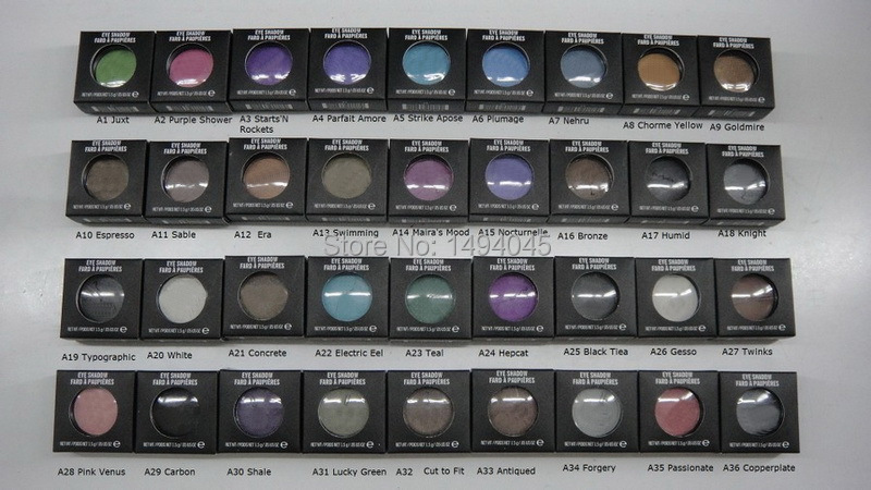 wholesale - new MC Brand Makeup 1.5g single eyeshadow pigment 12pcs/lot ( Send mixed colors )(China (Mainland))