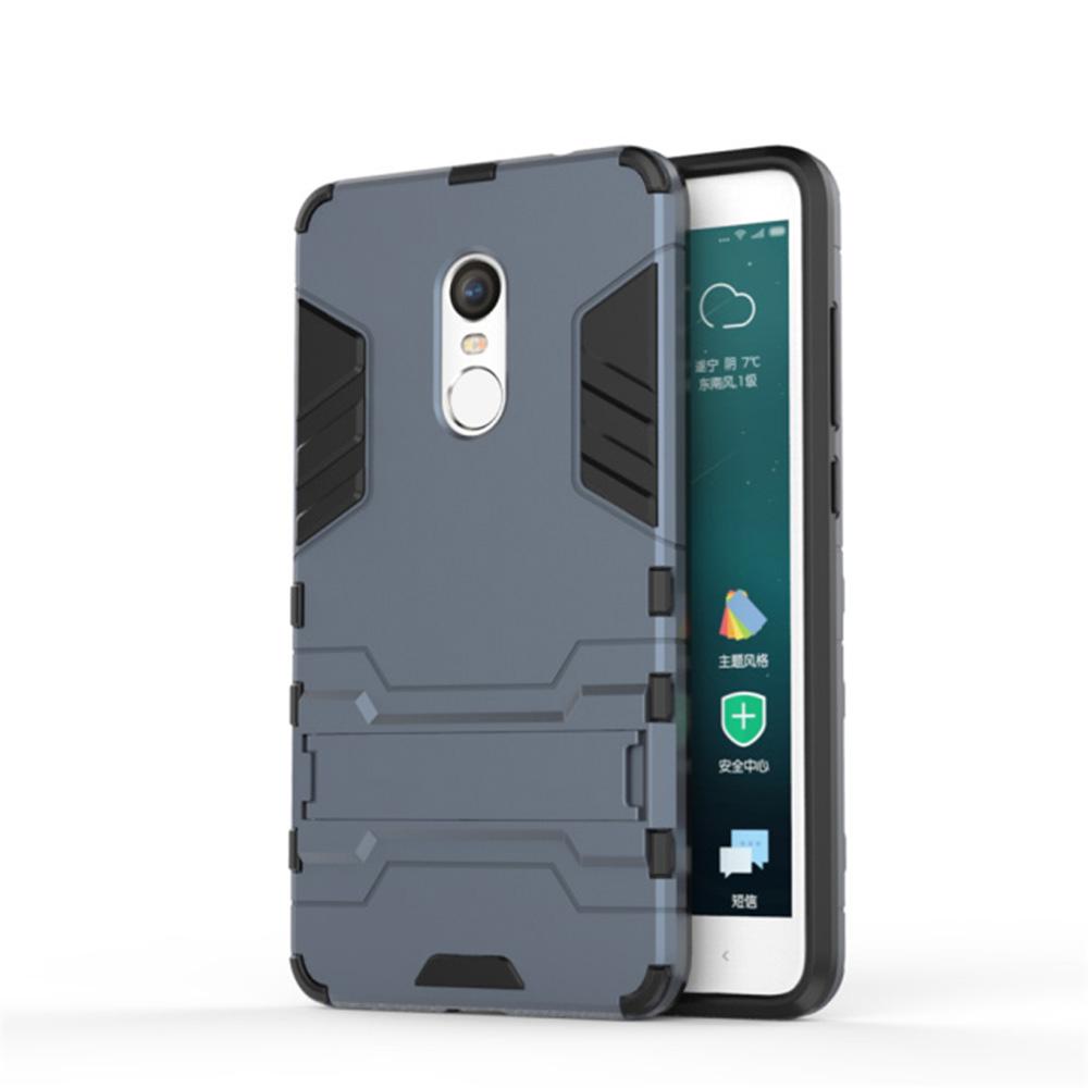 Xiaomi Redmi Note 4X Case Silicon Plastic Stand 5.5 inch Hybrid Anti Knock Back Redmi Note 4X Mobile Phone Bags Cases Coque