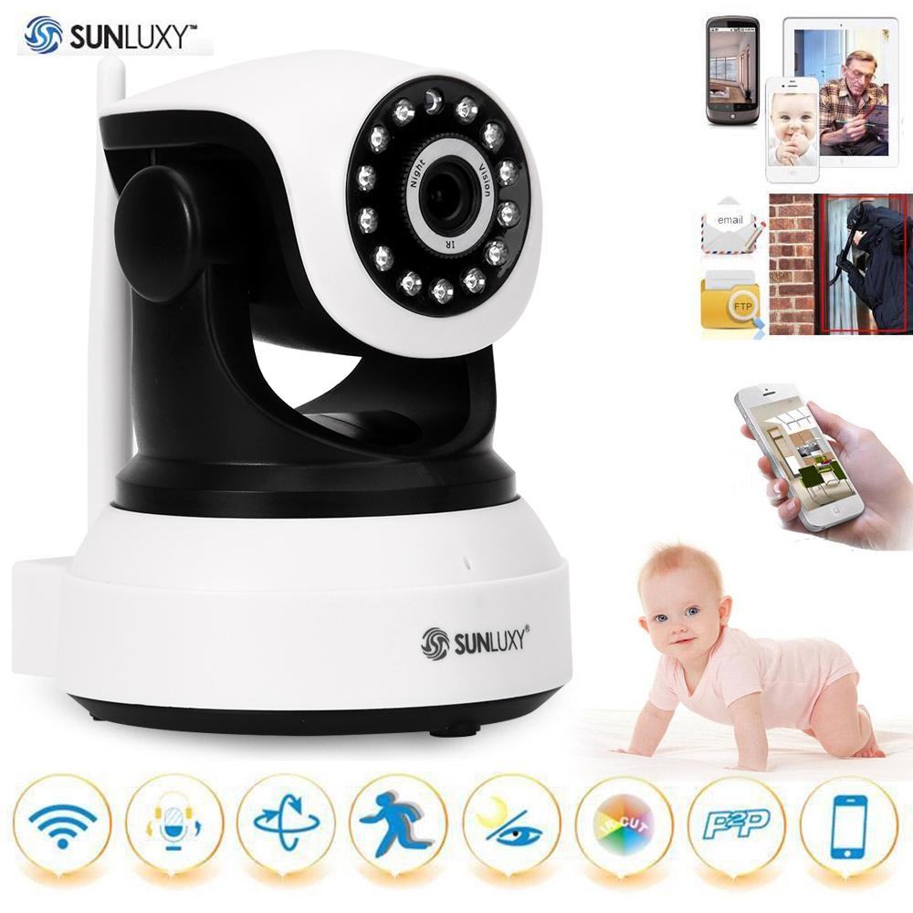 SUNLUXY T8809 720P Wireless IP Camera H.264 PTZ P2P Babycam IR-cut Night Vision Video Audio Onvif Indoor Surveillance Camera(China (Mainland))