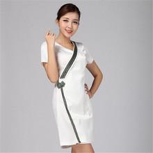 Uniformes de enfermería del hospital friega bata de laboratorio ropa / doctor nurse guardapolvos de los / mujeres work wear vestido tailandesa técnicos(China (Mainland))