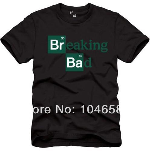 New design mens t shirt Breaking Bad Logo Mens T-Shirt simple design short sleeved fashion 100%cotton casual college tshirt'(China (Mainland))