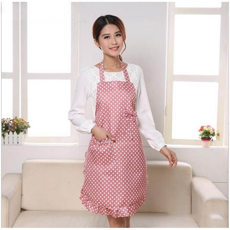 1Pcs Double Waterproof Princess Lace Apron Household Cleaning Tools Cooking Kitchen Apron 7ZA002(China (Mainland))