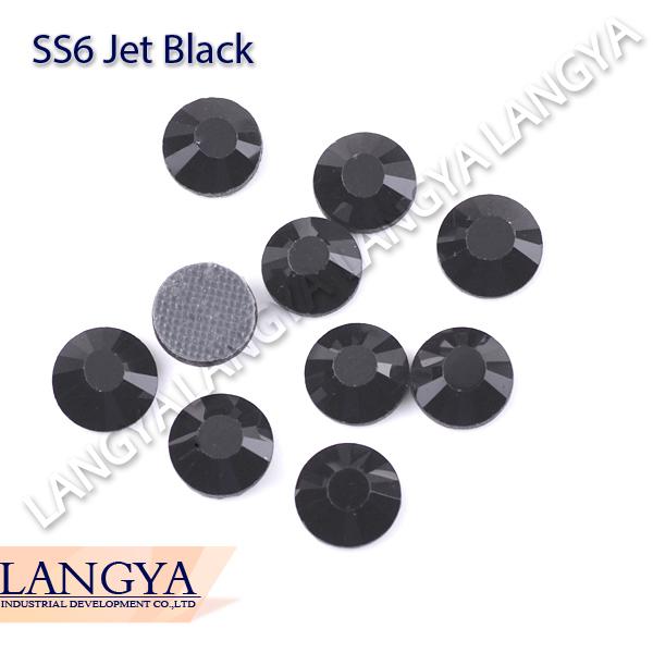 Best Quality Shiny DMC Hotfix Rhinestone SS6 Jet Black 1440pcs(Hong Kong)