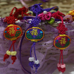 Gifts abroad sachet chinese knot fu word lantern embroidery mobile phone chain mobile phone pendant small