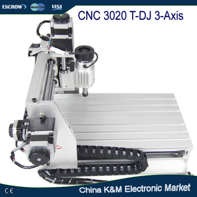 Russian tax-free shipping CNC 3020 T-DJ wood engraving machine pcb drilling router, cutting tool,milling mahine(China (Mainland))