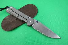 Wild Boar Chris Reeve Sebenza 21 Folding Knife Tactical KnifeD2 Blade With Stone Wash TC4 Titanium