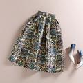 BunniesFairy Spring Autumn 50s Vintage Skirts Hepburn Стиль Retro Розовый Floral ...