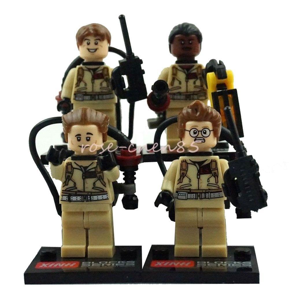 2015 4pcs/lot Ghost Busters Building Toys Ramond Tanzi Winston Zeddemore Child's Blocks Action Toys Figure Minifigures Brick(China (Mainland))