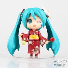 3pcs/Lot Japan Anime Figure Hatsune Miku Figure Brinquedos Yukata PVC Action Figure Juguetes Collection Model Toys KB0675