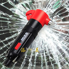 Multi-Function Emergency Rescue Car Seat Belt Cutter Magnets Safety Hammer Breaker Flashlight Distress signal Light Escape Tool(China (Mainland))