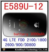 Desbloqueado E589 fdd 4 g LTE 3 g mifi router Huawei E589u-12 LTE 4 g wifi Hotspot router 4 g LTE mifi dongle pk b593 e5878 e5776 e5372
