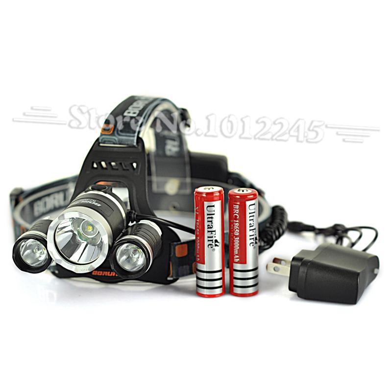 Налобный фонарь OEM 3 * XML T6 6000Lm + 2 X 18650 + RJ-3000 налобный фонарь oem 160lm 3 ll029