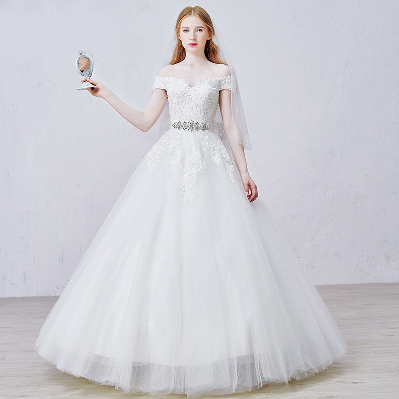 Wedding Dresses  Made In : Gown long lace wedding dresses made in china church beaded bridal