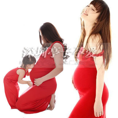 2015 New Mother and baby daughter dress women Photography Props summer red sexy Dress Romantic clothing set Free shipping<br><br>Aliexpress