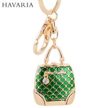 Brand HAVARIA European style Paint sealing glaze Women Keychain Key Chain Holder Ring Car Bag Pendant keyring Jewelry ouly-014