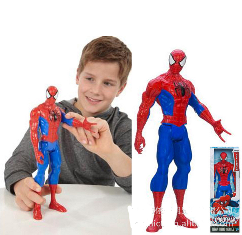 2015 Genuine Spiderman 3D doll model,Titan Hero Large Marvel Action Figure Boys 12inch Spiderman Kids Child Toys high quality(China (Mainland))